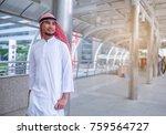 portrait successful handsome... | Shutterstock . vector #759564727