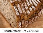 bread slices of dark bread | Shutterstock . vector #759570853