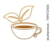 cup with tea leafs | Shutterstock .eps vector #759572503