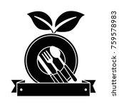 healthy food menu icon | Shutterstock .eps vector #759578983