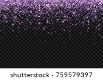 lilac falling glittering... | Shutterstock .eps vector #759579397