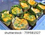 khai pam  it's food a native of ... | Shutterstock . vector #759581527