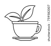 cup with tea leafs | Shutterstock .eps vector #759582007