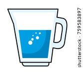 juice glass pot icon | Shutterstock .eps vector #759583897