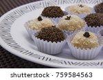 traditional brazilian sweet ... | Shutterstock . vector #759584563