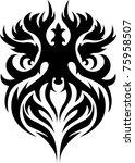tribal tattoo | Shutterstock .eps vector #75958507
