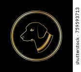 silhouette of a dog head in... | Shutterstock . vector #759593713