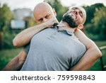 knife threat. kapap instructor... | Shutterstock . vector #759598843