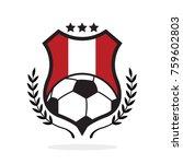 peru national flag football... | Shutterstock .eps vector #759602803