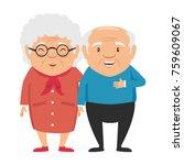 couple of grandparents avatars...   Shutterstock .eps vector #759609067