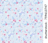 fashionable pattern in small... | Shutterstock . vector #759613747