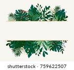 background of leaves. vector... | Shutterstock .eps vector #759622507