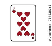 eight of hearts french playing... | Shutterstock .eps vector #759628363