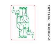 poker playing card jack heart | Shutterstock .eps vector #759631363