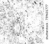 grunge black and white pattern. ... | Shutterstock . vector #759631777