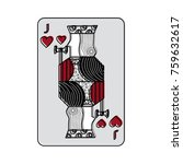 jack of hearts french playing... | Shutterstock .eps vector #759632617