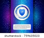 digital technology protection... | Shutterstock .eps vector #759635023