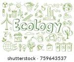hand drawn design vector...   Shutterstock .eps vector #759643537