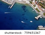 bol harbour from air  on island ... | Shutterstock . vector #759651367