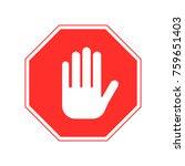 stop sign vector   Shutterstock .eps vector #759651403