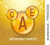 vitamin a  c  e  icon.... | Shutterstock .eps vector #759652333