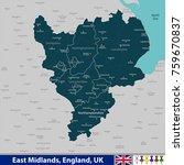 vector map of east midlands ... | Shutterstock .eps vector #759670837