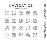 set line icons of navigation | Shutterstock .eps vector #759682843