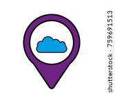 cloud social media round... | Shutterstock .eps vector #759691513