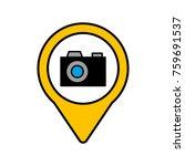 camera social media round... | Shutterstock .eps vector #759691537