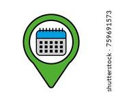 calendar social media pointer... | Shutterstock .eps vector #759691573
