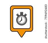 chronometer social media square ... | Shutterstock .eps vector #759692683