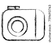 photographic camera isolated... | Shutterstock .eps vector #759693763