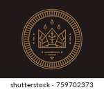 gold coin with crown and emblem ... | Shutterstock .eps vector #759702373