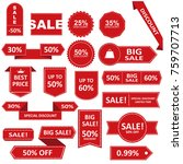 sale label collection. sale... | Shutterstock .eps vector #759707713