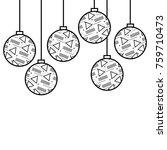 Christmas Balls With Geometric...