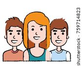 group of persons avatars... | Shutterstock .eps vector #759714823