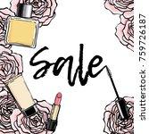 sale banner. beauty cosmetics... | Shutterstock .eps vector #759726187