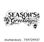 lettering hand written seasons... | Shutterstock .eps vector #759729937