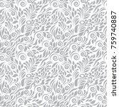 floral vector ornamental pattern | Shutterstock .eps vector #759740887