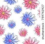 watercolor seamless pattern... | Shutterstock . vector #759742927