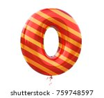 gold and red balloon stripe... | Shutterstock . vector #759748597