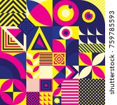 seamless pattern of pop and... | Shutterstock .eps vector #759785593
