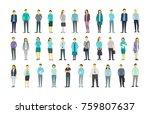 big set a lot of people bundle... | Shutterstock .eps vector #759807637