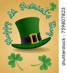 saint patrick's day symbols  | Shutterstock . vector #759807823