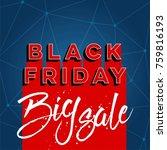 abstract vector black friday... | Shutterstock .eps vector #759816193