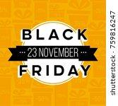 abstract vector black friday... | Shutterstock .eps vector #759816247