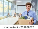 portrait of smiling young man... | Shutterstock . vector #759828823