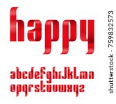 lowercase letters font from a... | Shutterstock .eps vector #759832573