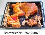 lechona asada a la mallorquina... | Shutterstock . vector #759838873