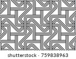 black and white seamless... | Shutterstock .eps vector #759838963